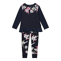 Baker by Ted Baker - Girls' Navy Floral Print Pyjama Set