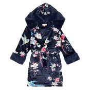db9c4cebf Baker by Ted Baker - Girls' navy floral print velour dressing gown