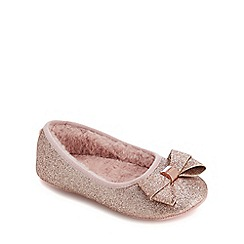 Baker by Ted Baker - Girls' pink glitter slippers