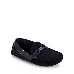 Baker by Ted Baker - Boys' navy suedette moccasin slippers