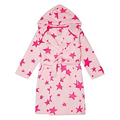 bluezoo - Girls' pink star print dressing gown