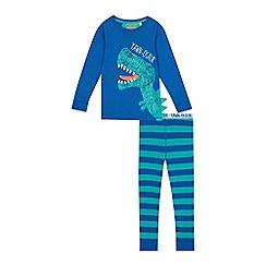 bluezoo - Boys' blue dinosaur print pyjama set