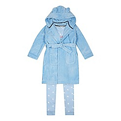 bluezoo - Boys' Blue Star 'Little Prince' Pyjama and Dressing Gown Set