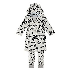 bluezoo - Boys' White Dog Pyjama and Dressing Gown Set