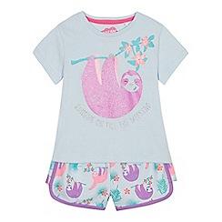 bluezoo - Girls' Blue Sloth Pyjama Set
