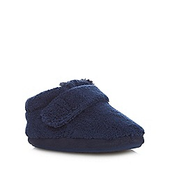 bluezoo - Boys' navy fleece slippers