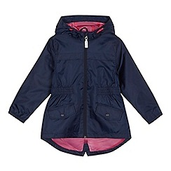 bluezoo - 'Girls' navy mac coat