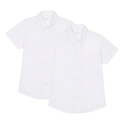 Debenhams - 'Set of 2 boys' white short sleeve regular fit school shirts
