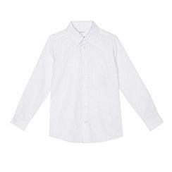 Debenhams - 'Boys' white regular fit Oxford school shirt
