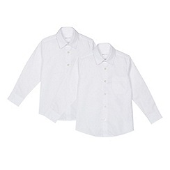 Debenhams - 'Set of 2 boys' white regular fit school shirts