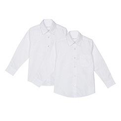 Debenhams - 'Set of 2 boys' white regular fit school shirts