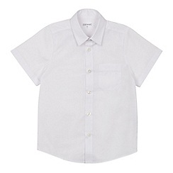 Debenhams - Set of 2 boys' white short sleeve regular fit school shirts