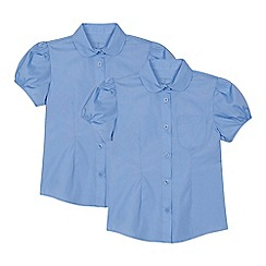 Debenhams - 'Pack of 2 girls' blue blouses