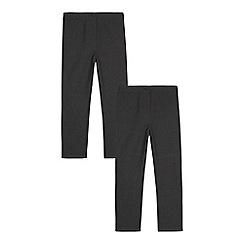 Debenhams - Pack of two girls' grey slim fit trousers