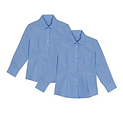 Debenhams - Set of 2 girls' blue blouses
