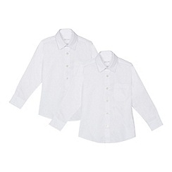Debenhams - 'Set of 2 boys' white slim fit school shirts