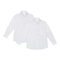 Debenhams - Set of 2 boys' white generous fit school shirts
