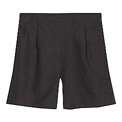 Debenhams - Girls' grey school shorts
