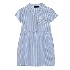 Debenhams - Girls' blue striped school dresses