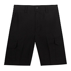 Debenhams - Boys' black cargo shorts