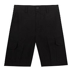 Debenhams - Boys' black cargo shorts