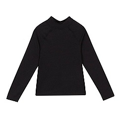 Debenhams - 'Childrens' black high neck long sleeve school sports top