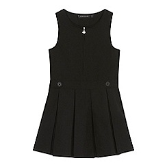 Debenhams - Girls' black school pinafore