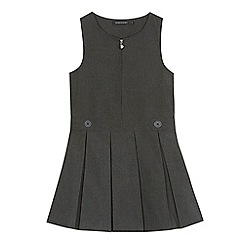 Debenhams - 'Girls' grey school pinafore