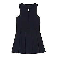 Debenhams - Girls' navy pinafore