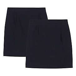Debenhams - '2 pack girls' navy pencil skirts