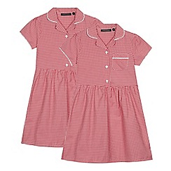 Debenhams - 2 Pack Red Gingham Dresses