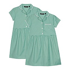 Debenhams - 2 Pack Green Gingham Dresses