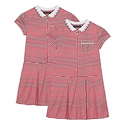 Debenhams - 2 Pack Red Gingham Dress