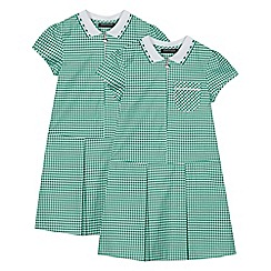 Debenhams - 2 Pack Green Gingham Dress
