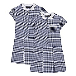 Debenhams - 2 Pack Navy Gingham Dress