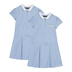 Debenhams - 2 Pack Light Blue Gingham Dress