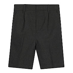 Debenhams - 2 Pack Kids' Grey Classic School Shorts