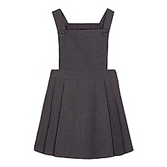 Debenhams - Girls' grey traditional school dress