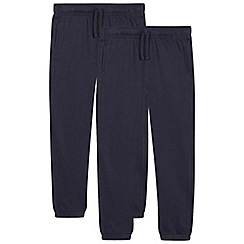 Debenhams - Pack of two children's navy jogging bottoms