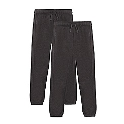 Debenhams - Pack of two children's grey jogging bottoms