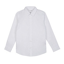 Debenhams - Senior boys' white slim fit Oxford long sleeved shirt