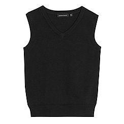 Debenhams - Children's black school tank top
