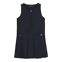 Debenhams - Girls' navy 'Teflon' school pinafore
