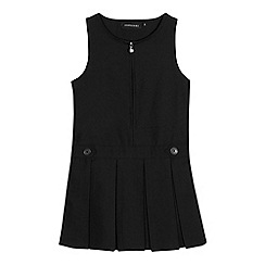Debenhams - Girls' black 'Teflon' school pinafore