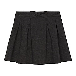 Debenhams - Girls' grey bow skirt