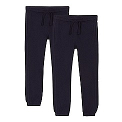 Debenhams - Set of 2 childrens' navy school jogging bottoms
