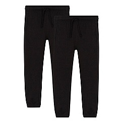 Debenhams - 'Set of 2 childrens' black school jogging bottoms