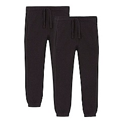 Debenhams - 'Set of 2 childrens' grey school jogging bottoms