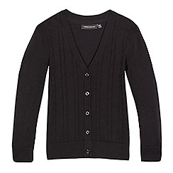 Debenhams - Girls' black cable knit cardigan