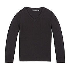 Debenhams - Children's black V neck jumper